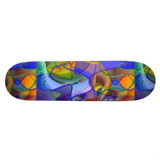 String Theory Shimmering Abstract Skate Boards