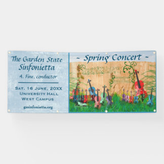 Stringed Instrument Garden Concert Announcement Banner