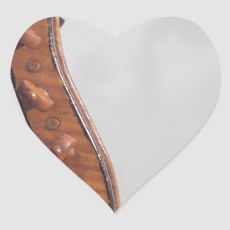 Stringed Instrument Indian Head Heart Sticker