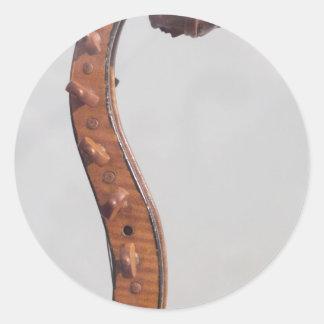Stringed Instrument Indian Head Round Sticker