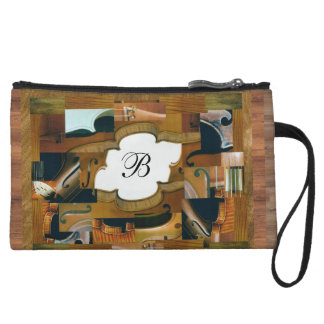 Stringed Instrument Window with Custom Initial Wristlet