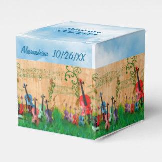 Stringed Instruments Garden Custom Text Wrap-Aroun Favor Box
