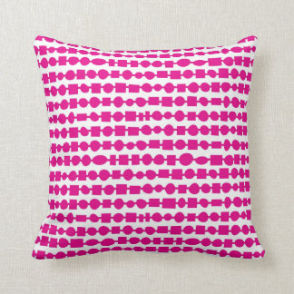 Stringing it Along-Fuchsia Throw Pillow