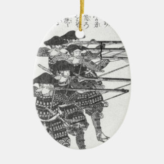 Strings for night firing by Utagawa Kuniyoshi Ceramic Oval Ornament