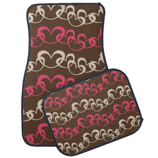 Strings of Hearts on Chocolate Car Mats Car Liners