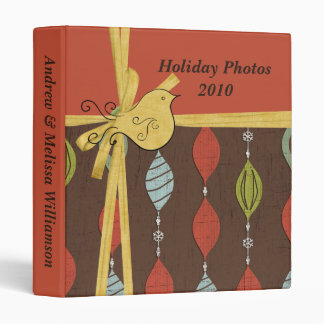 Strings of Ornaments Personalized Photo Binder