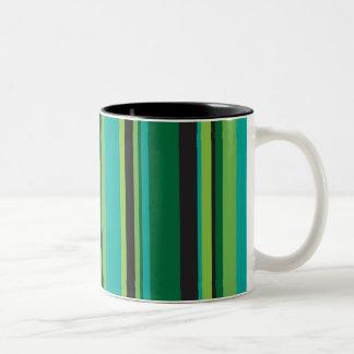 Stripe 6 Two-Tone coffee mug