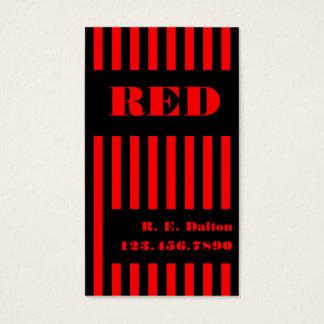 Stripe Black & Red Business Card