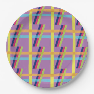 Stripe Bright Paper Plate