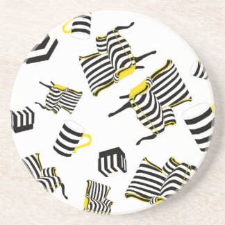 Stripe Chairs, mugs and boxes Drink Coaster
