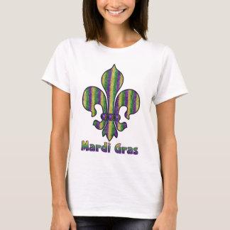Stripe Mardi Gras Fleur de lis T-Shirt