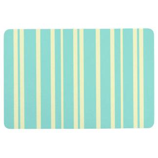 STRIPE PATTERN FLOOR MAT, Pastel Mint & Yellow Floor Mat