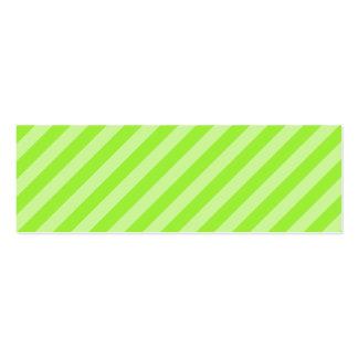 Stripe Pattern in Green. Business Card Templates