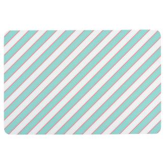 STRIPE PATTERN PILLOW, Mint Peach & White Floor Mat