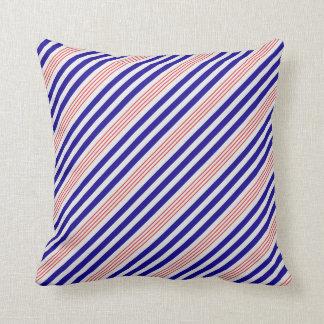 STRIPE PATTERN PILLOW, Red White & Blue Throw Pillow