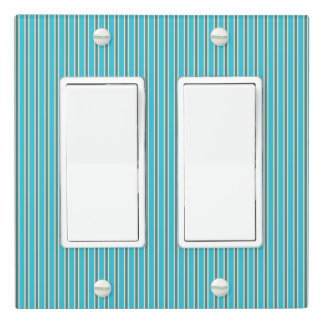 Stripe Pattern - Turquoise - Light Switch Cover