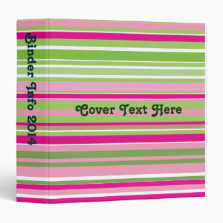 Stripe pink and green Binder