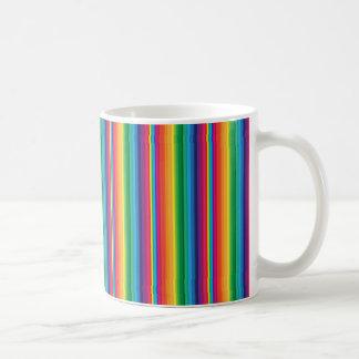 Stripe rainbow coffee mugs