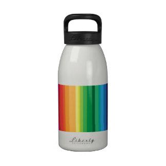 Stripe rainbow drinking bottles