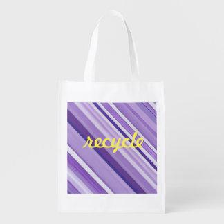 Stripe reusable purple bag