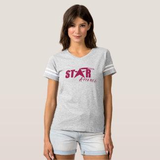 Stripe Sleeve Star Status Apparel Tee