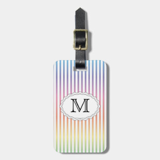Stripe Travel Bag Tag Template