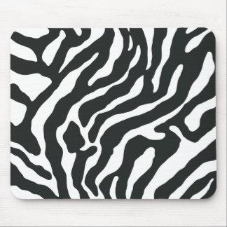 Stripe Zebra Print Reto Mouse Pads