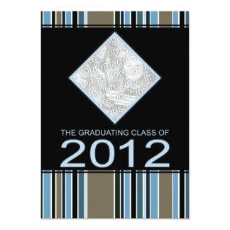 striped 2012 graduation announcement