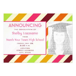 Striped 2012 Graduation Photo Announcement