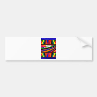 Striped Abstraction Design2 Bumper Sticker
