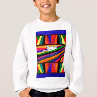 Striped Abstraction Design2 Sweatshirt