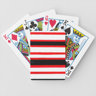 Striped Abstraction Design Bicycle Playing Cards