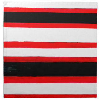 Striped Abstraction Design Napkin