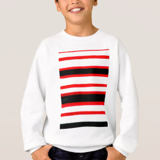 Striped Abstraction Design Sweatshirt