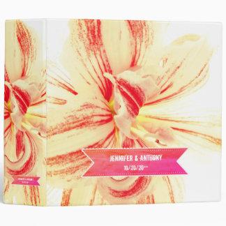 Striped Amaryllis Flower Wedding Pic Binder