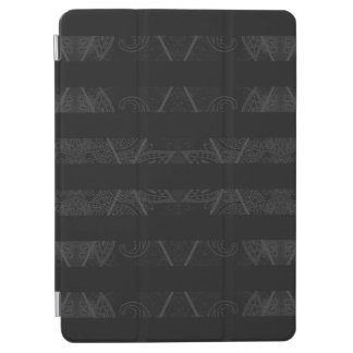 Striped Argyle Embellished Black 9.7""
