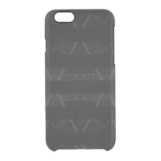 Striped Argyle Embellished Black Clear iPhone 6/6S Case