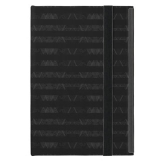 Striped Argyle Embellished Black Cover For iPad Mini