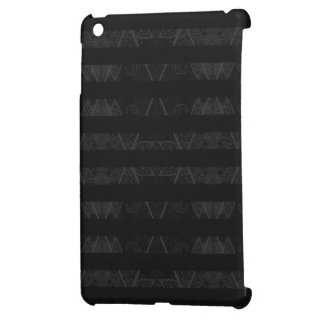 Striped Argyle Embellished Black Cover For The iPad Mini