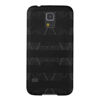 Striped Argyle Embellished Black Galaxy S5 Covers