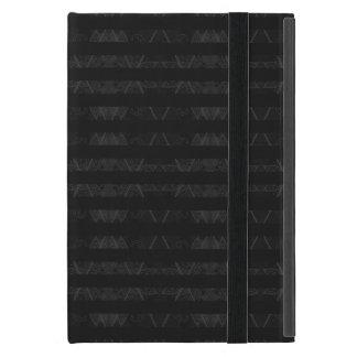 Striped Argyle Embellished Black iPad Mini Case