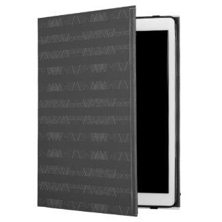 """Striped Argyle Embellished Black iPad Pro 12.9"""" Case"""