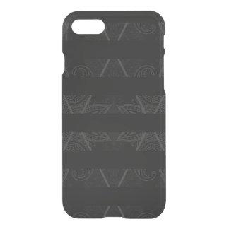 Striped Argyle Embellished Black iPhone 8/7 Case