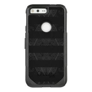 Striped Argyle Embellished Black OtterBox Commuter Google Pixel Case