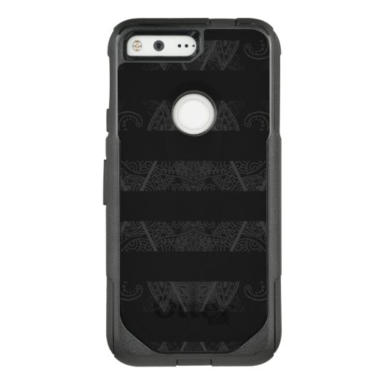 Striped Argyle Embellished Black OtterBox Commuter Google Pixel Case