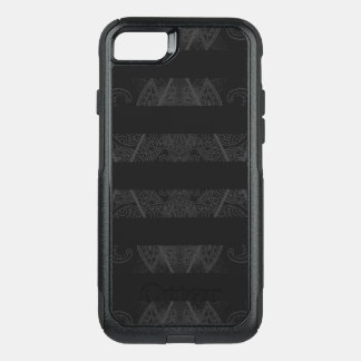 Striped Argyle Embellished Black OtterBox Commuter iPhone 8/7 Case