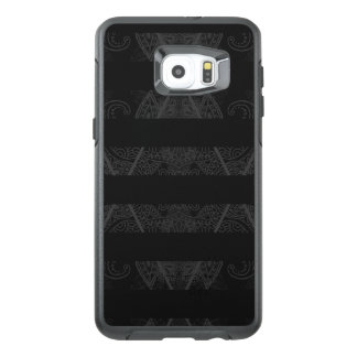 Striped Argyle Embellished Black OtterBox Samsung Galaxy S6 Edge Plus Case
