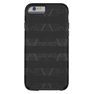 Striped Argyle Embellished Black Tough iPhone 6 Case