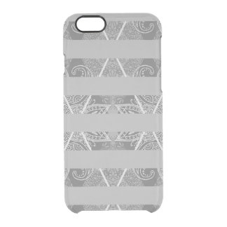 Striped Argyle Embellished Grey Clear iPhone 6/6S Case