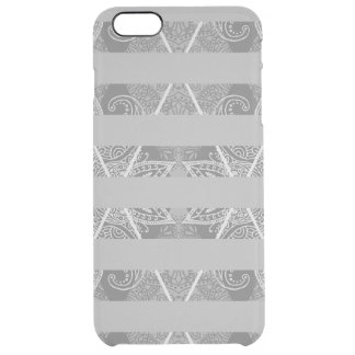 Striped Argyle Embellished Grey Clear iPhone 6 Plus Case